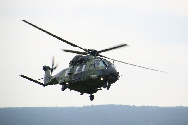 Helicopter transport helicopter nh-90.