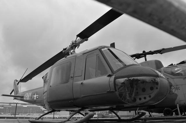 Helicopter war gun.