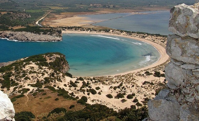Hellas peloponnese ox stomach bay, travel vacation.