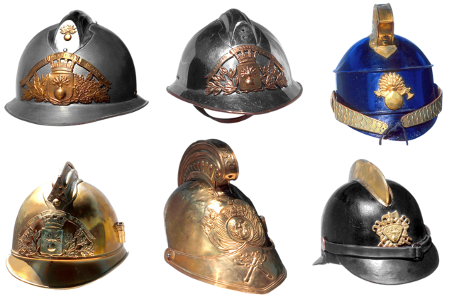 Helmet firefighter shape.
