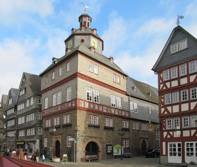 Herborn germany old town, architecture buildings.
