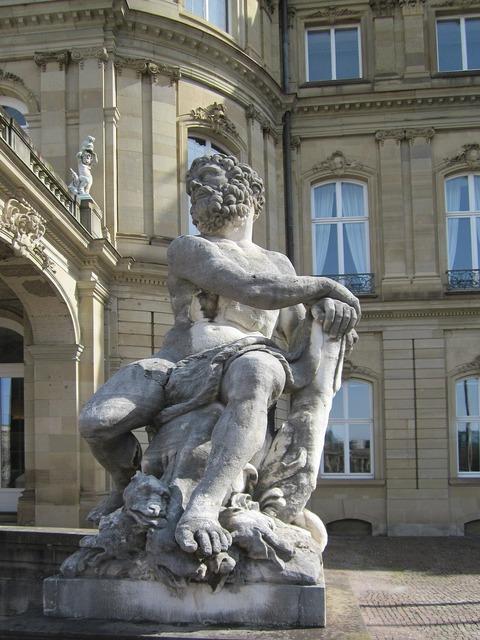 Hercules stuttgart schlossplatz, architecture buildings.