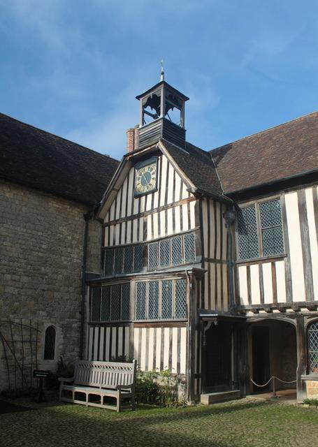Heritage clock ightham, architecture buildings.