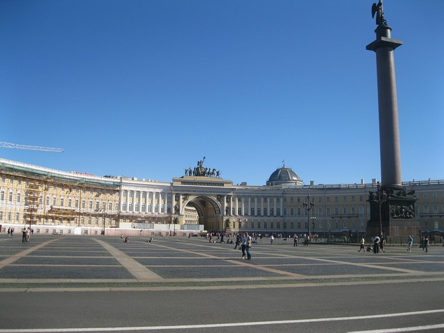 Hermitage palace square st petersburg russia, architecture buildings.