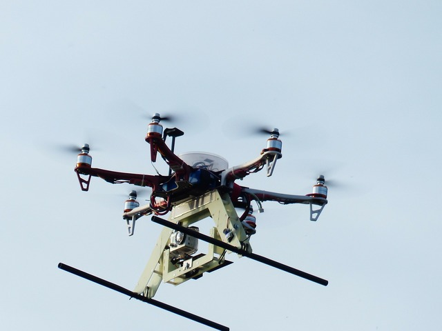 Hexacopter helicopter model, science technology.