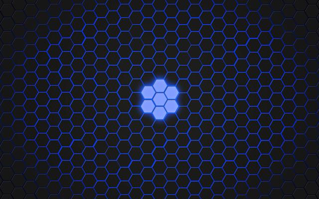 Hexagons blue wallpaper, backgrounds textures.