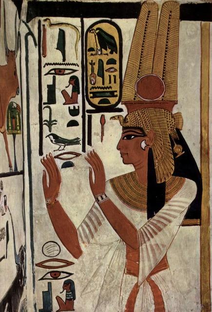 Hieroglyphics goddess queen.