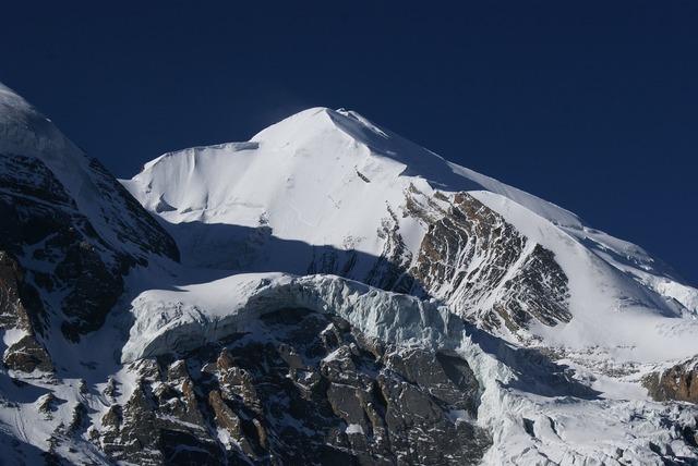 High mountains snow mountains glacier.