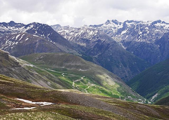 Highest alpine pass col de la bonette serpentine.