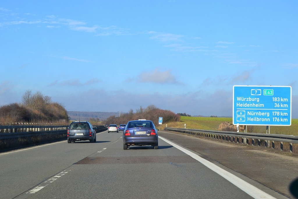Highway traffic lane, transportation traffic.