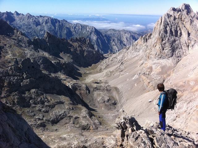 Hiking picos de europa mountains.