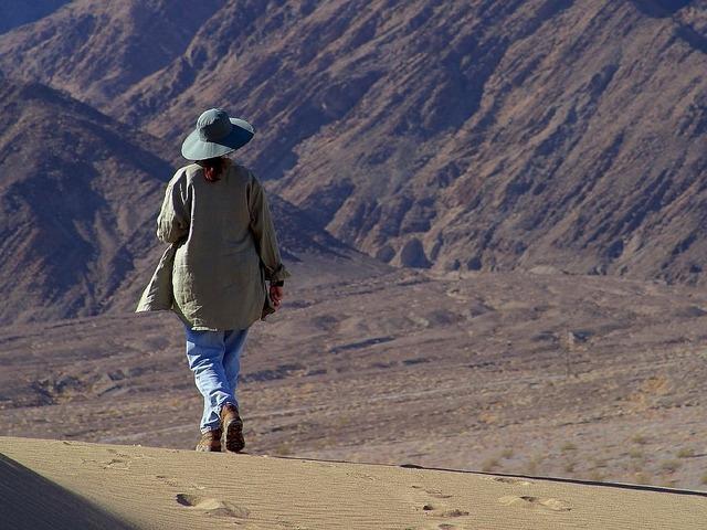 Hiking sand wanderer.
