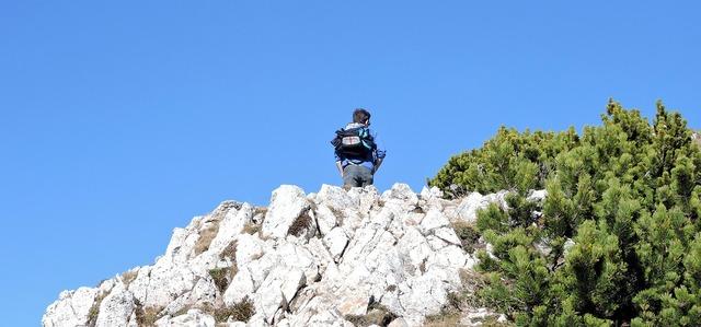 Hiking trekking rock, nature landscapes.