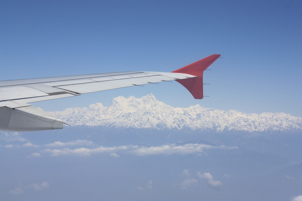 Himalayas aerial mountains.