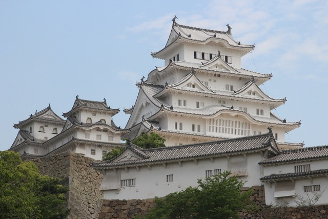 Himeji castle white, architecture buildings.