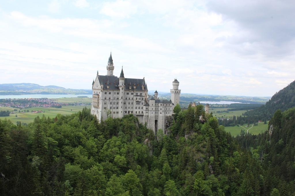 Historic germany castle, architecture buildings.