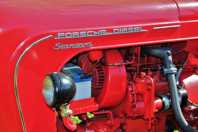 Historical tractor porsche diesel standard tractors, transportation traffic.