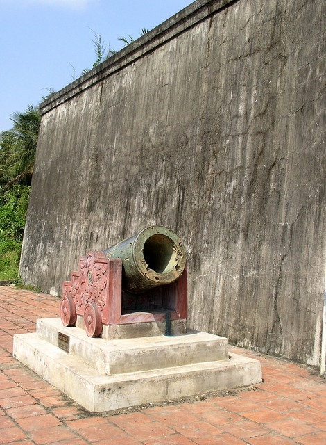 History bomb cannon, places monuments.