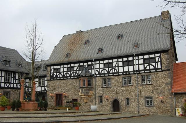 Hof courtyard monastery.