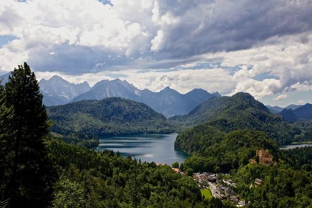 Hohenschwangau alps alpsee, nature landscapes.