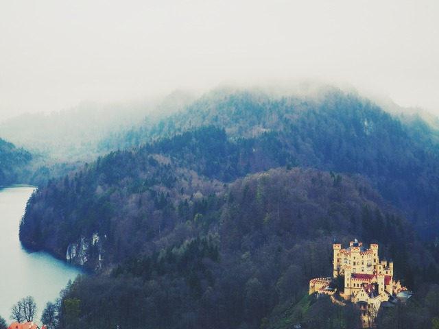 Hohenschwangau castle bavaria, architecture buildings.