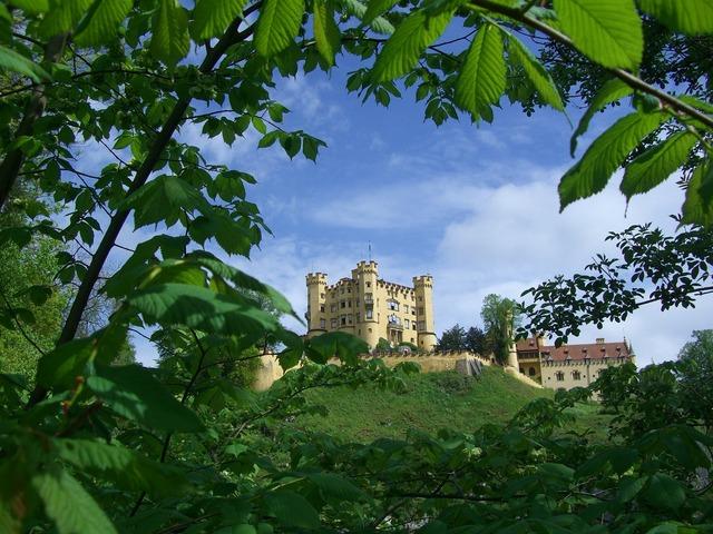 Hohenschwangau castle füssen, architecture buildings.