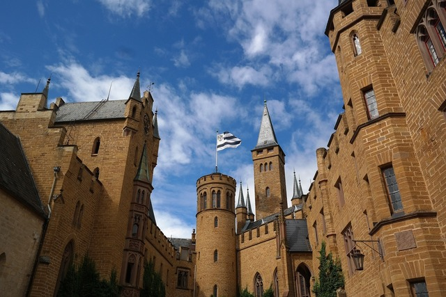 Hohenzollern tower castle.