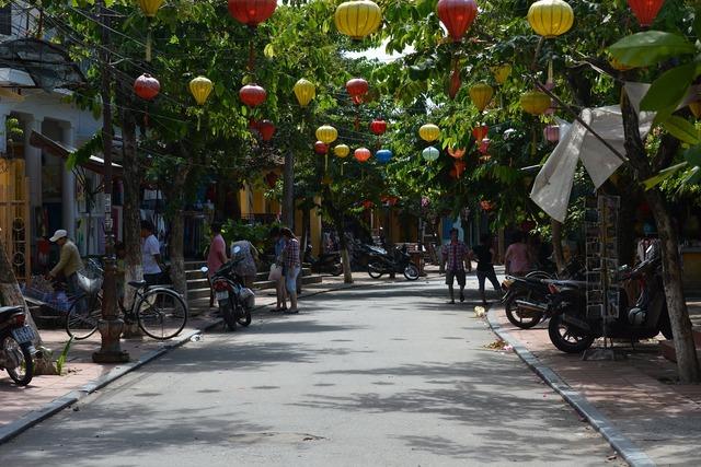 Hoi an vietnam road, transportation traffic.