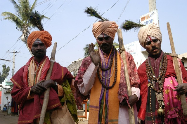 Holy men india blessings, religion.