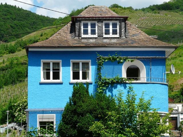 Home blue home blue, architecture buildings.