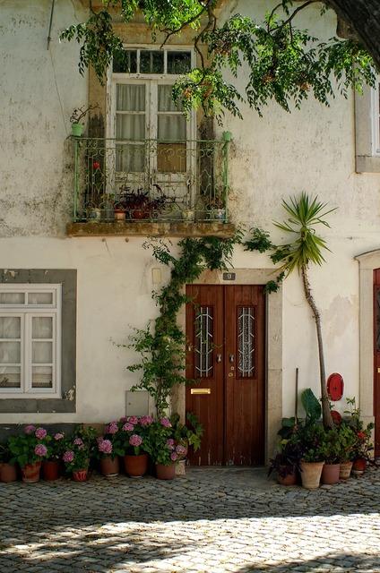 Home front door decoration, nature landscapes.