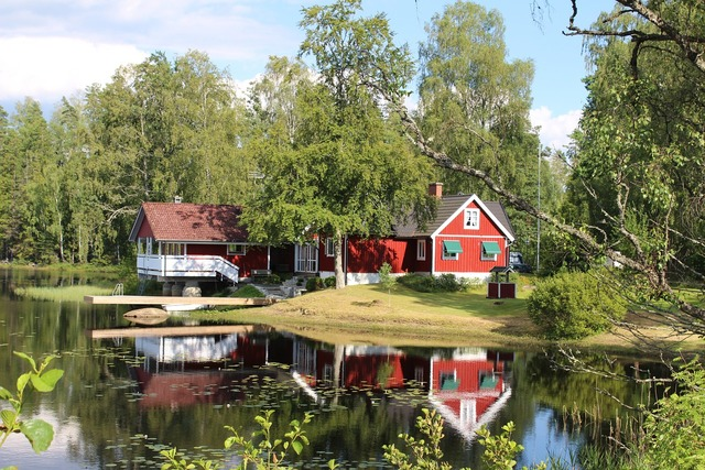 Home lake sweden, architecture buildings.
