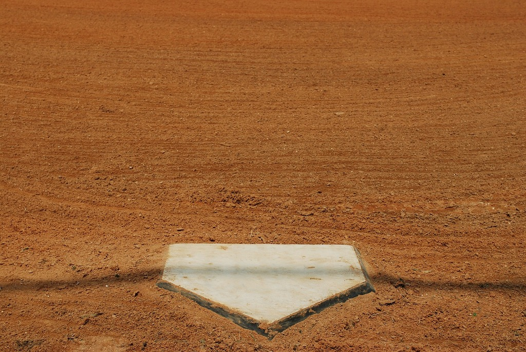 Home plate ball, architecture buildings.