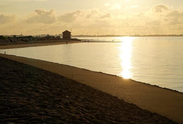 Hooksiel beach sea, travel vacation.