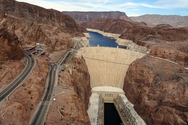 Hoover dam dam colorado, travel vacation.
