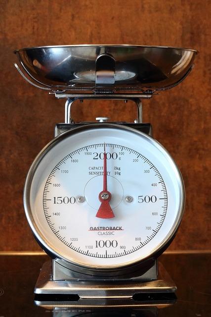 Horizontal kitchen scale kitchen utensil.