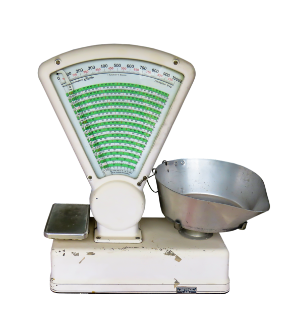 Horizontal kitchen utensil kitchen scale, business finance.