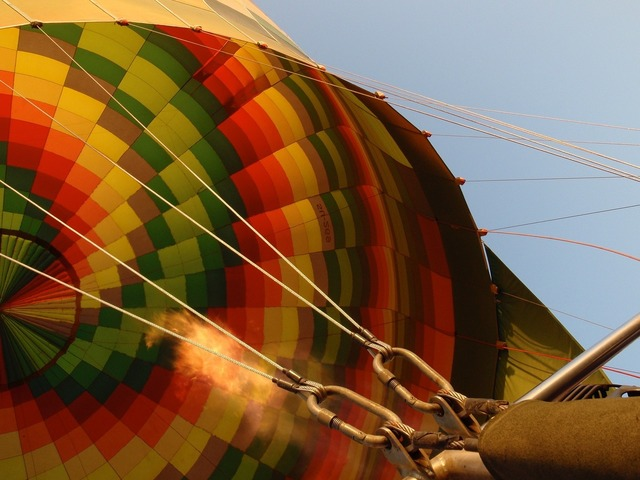 Hot air balloon colorful, transportation traffic.