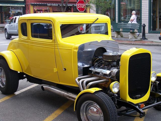 Hot rod hot rods muscle car, transportation traffic.