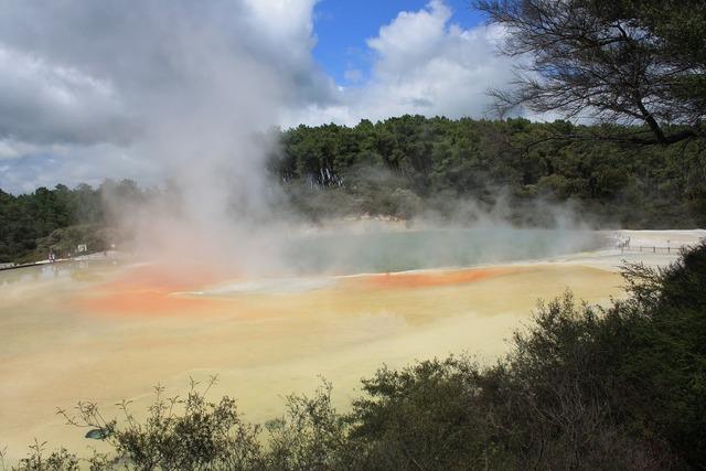 Hot springs rotorua volcanic.