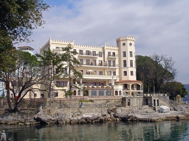 Hotel croatia hotel miramar, architecture buildings.