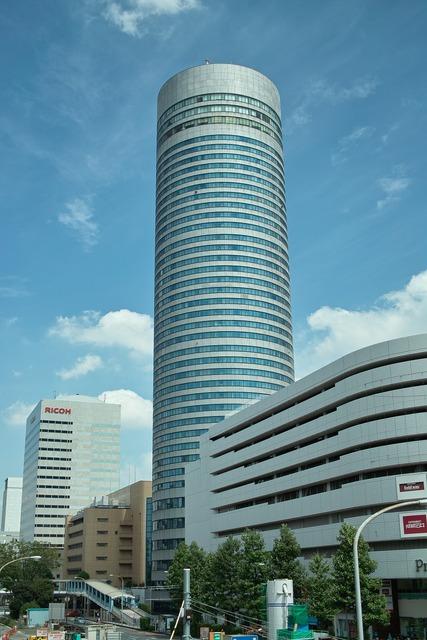 Hotel tower shin-yokohama, architecture buildings.