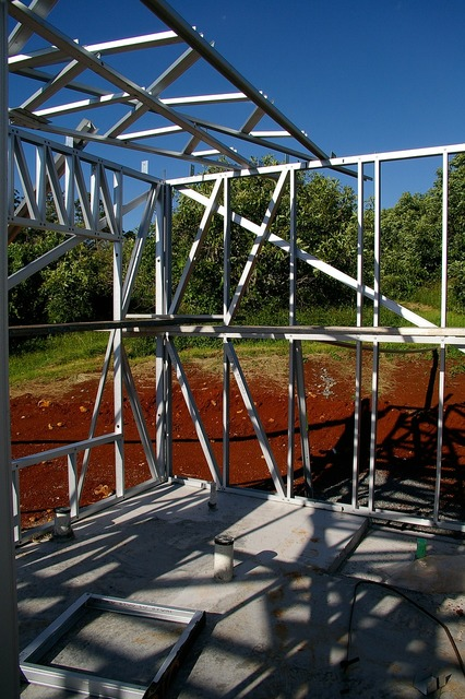 House building building steel frame, architecture buildings.