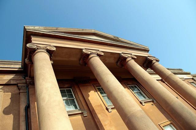 House columns pillars, architecture buildings.