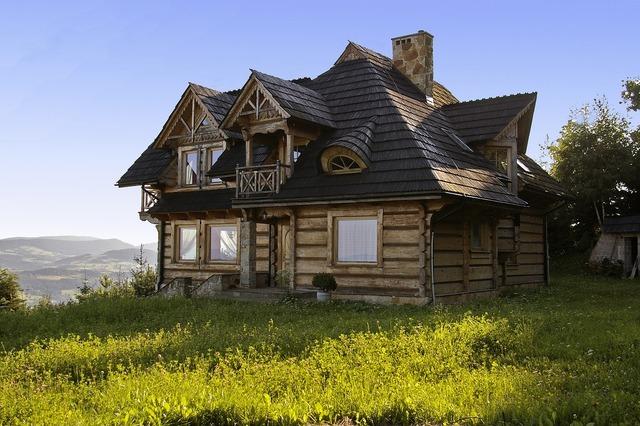 House cottage mountains, architecture buildings.