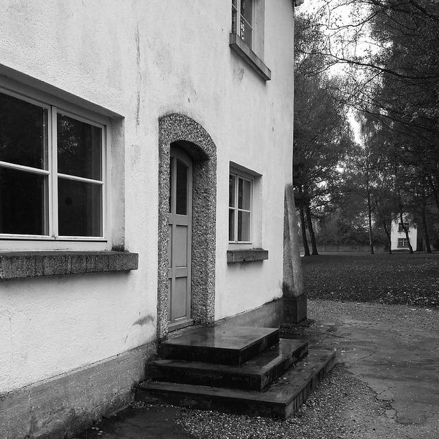 House dachau concentration camp, architecture buildings.
