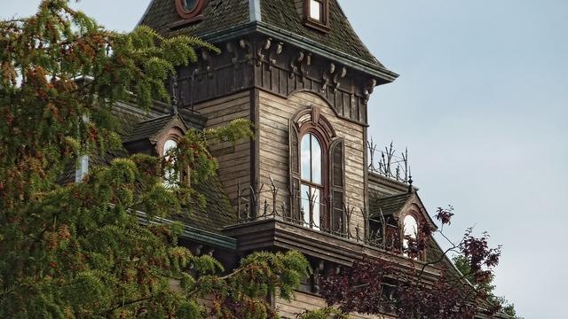 House disneyland mansion, architecture buildings.