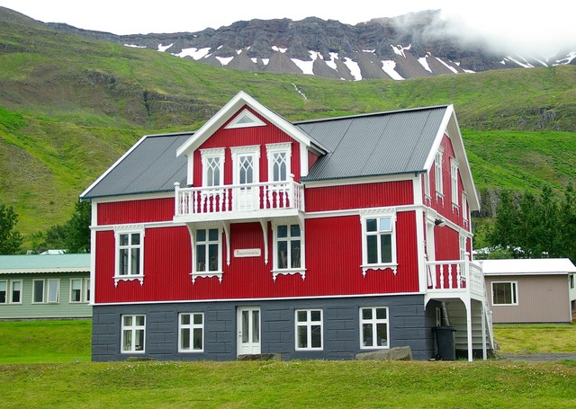 House iceland seyðisfjörður, architecture buildings.