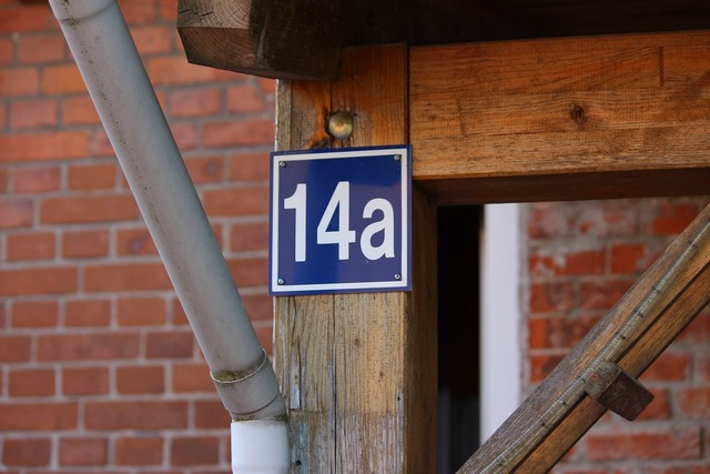 House number number metal, architecture buildings.