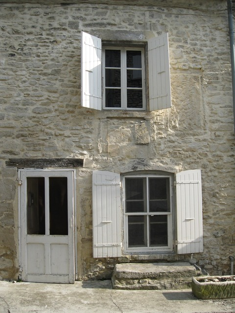 House windows shutters, architecture buildings.